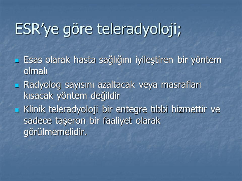 ESR'ye göre teleradyoloji;