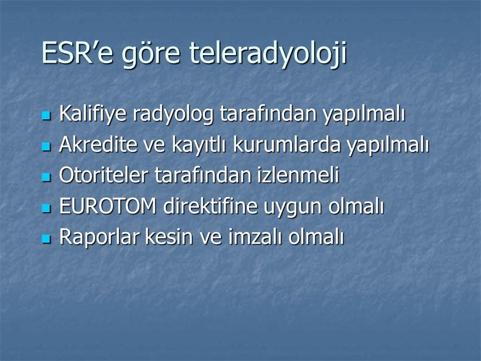 ESR'e göre teleradyoloji