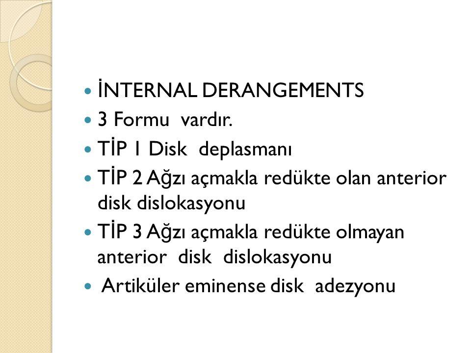 İNTERNAL DERANGEMENTS