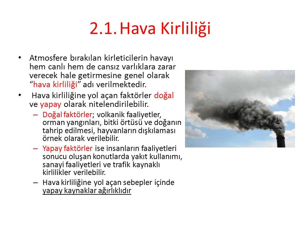 2.1. Hava Kirliliği