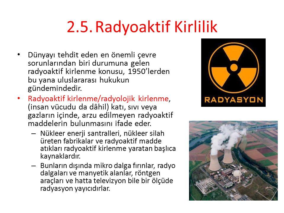 2.5. Radyoaktif Kirlilik