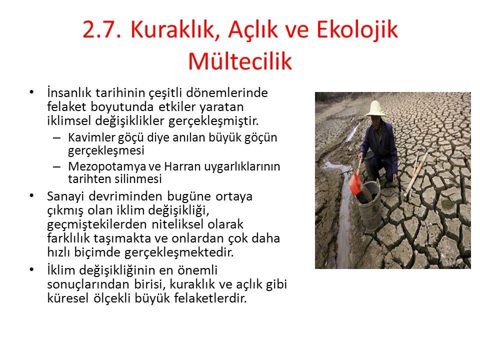 2.7. Kuraklık, Açlık ve Ekolojik Mültecilik