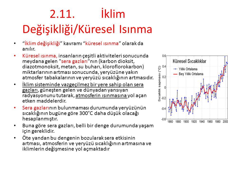 2.11. İklim Değişikliği/Küresel Isınma