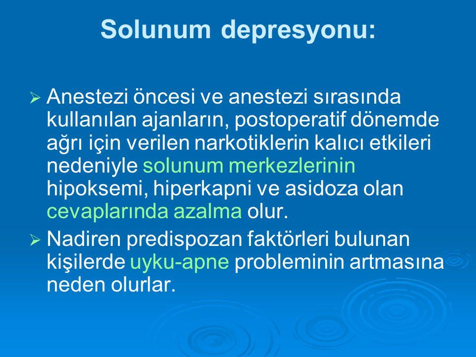 Solunum depresyonu: