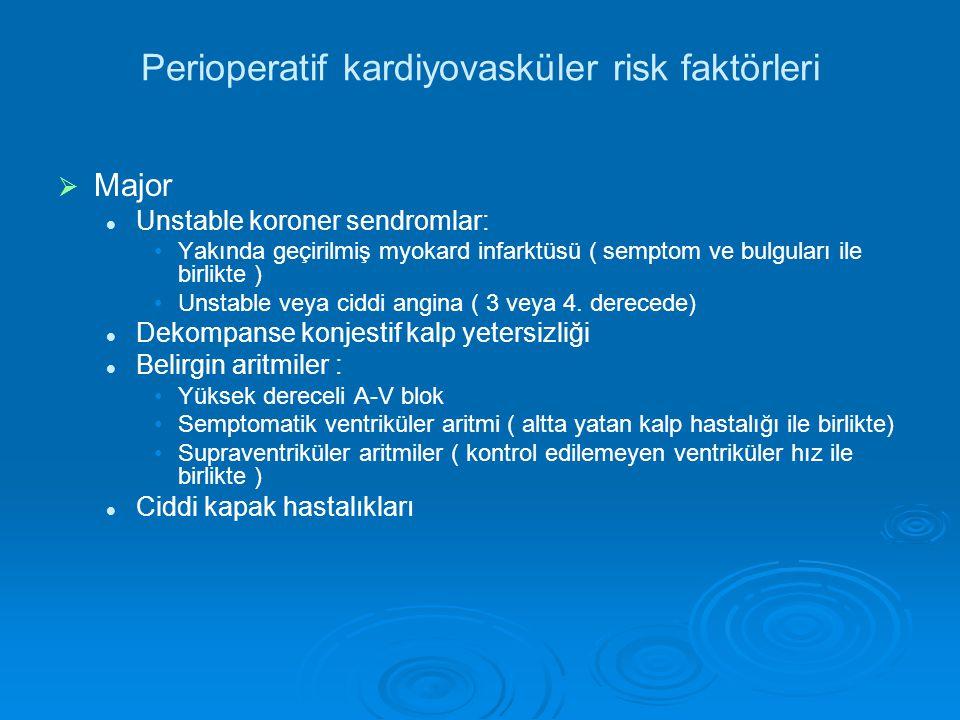 Perioperatif kardiyovasküler risk faktörleri