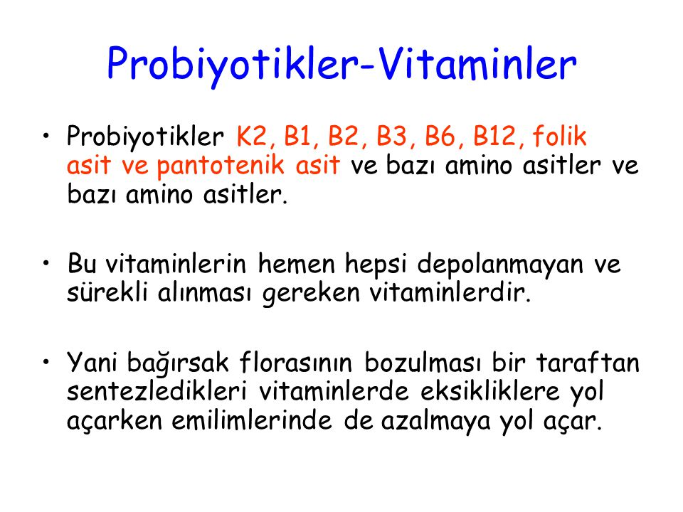 Probiyotikler-Vitaminler