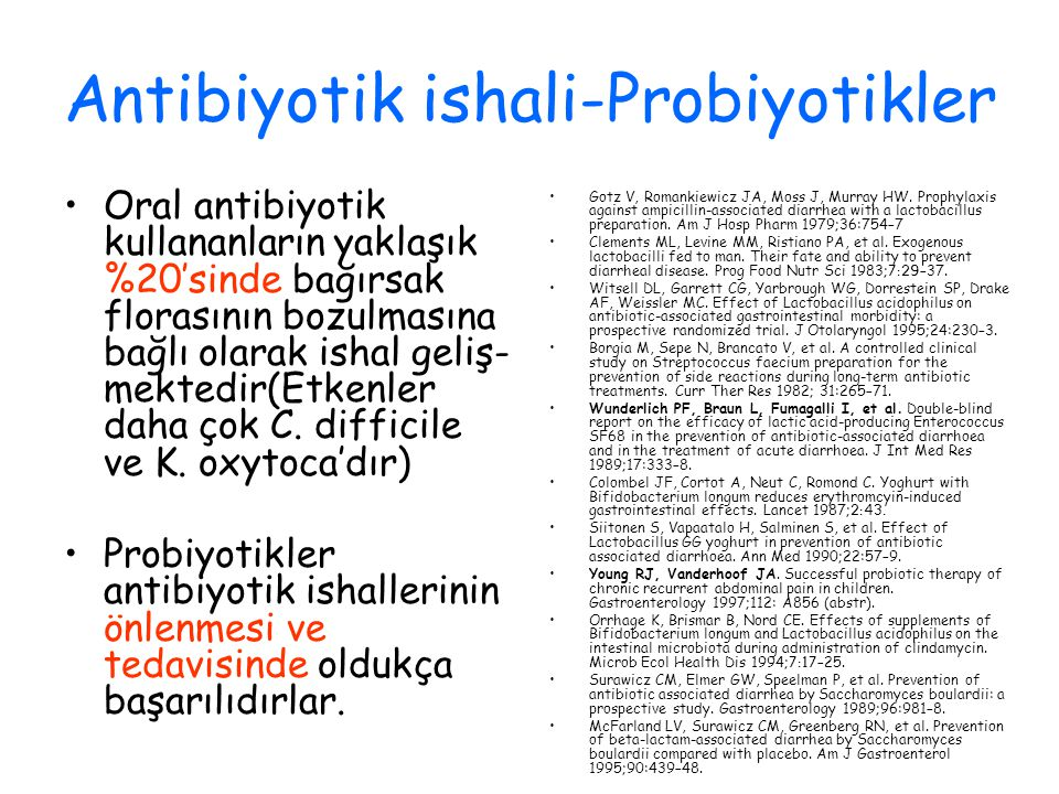 Antibiyotik ishali-Probiyotikler
