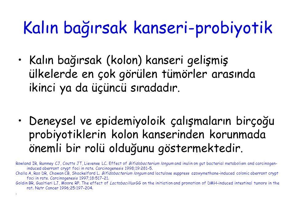 Kalın bağırsak kanseri-probiyotik