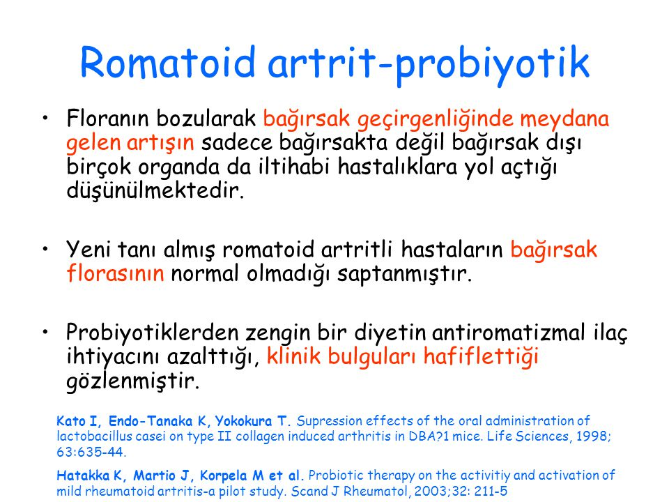 Romatoid artrit-probiyotik