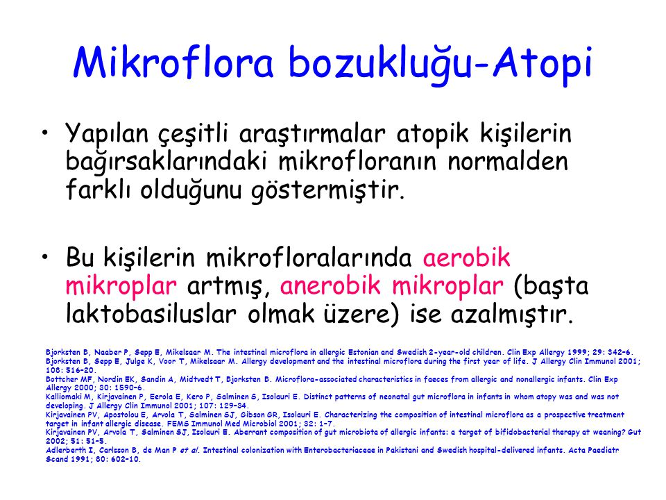 Mikroflora bozukluğu-Atopi
