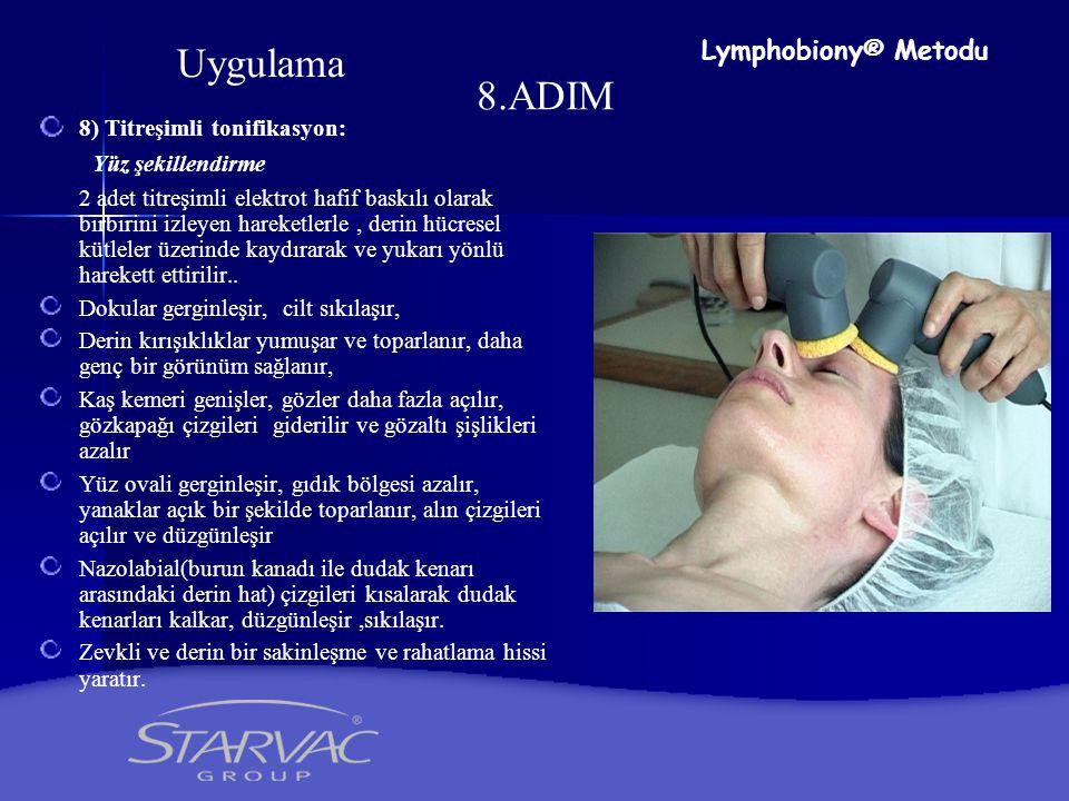Uygulama 8.ADIM Lymphobiony® Metodu 8) Titreşimli tonifikasyon: