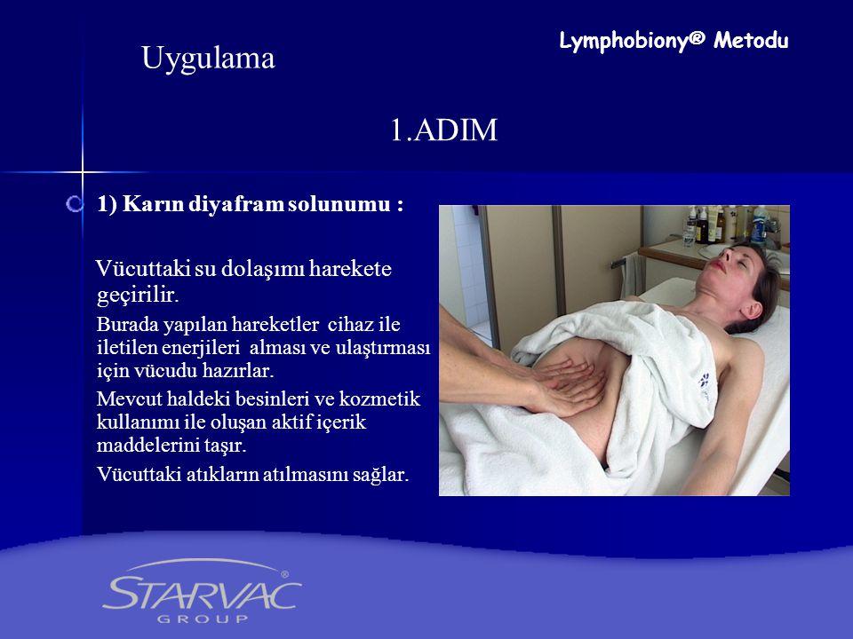 Uygulama 1.ADIM 1) Karın diyafram solunumu :