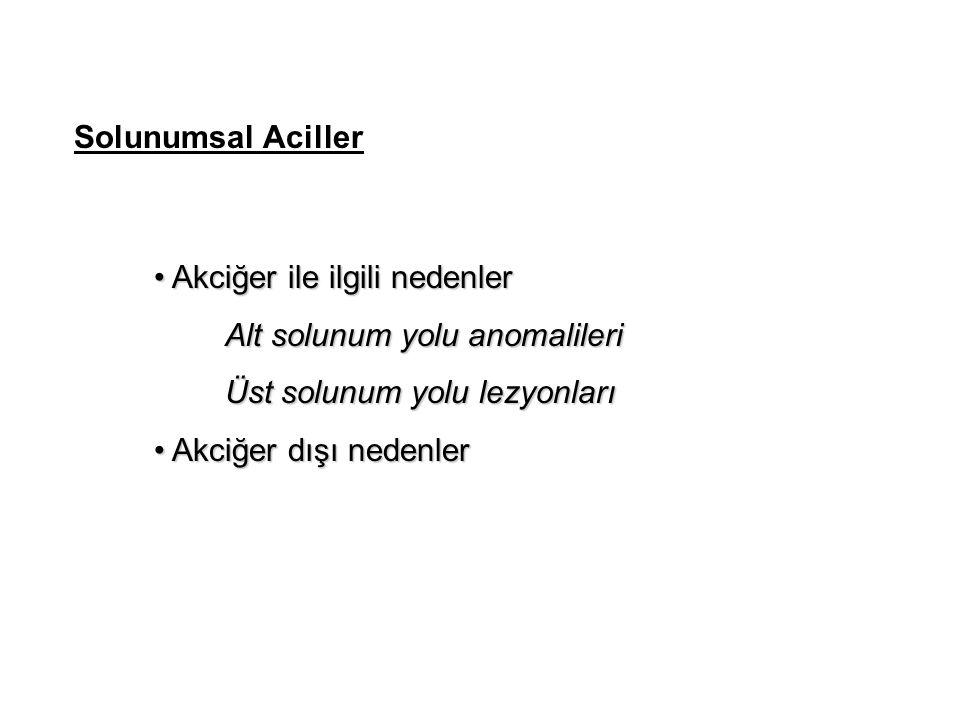 Akciğer ile ilgili nedenler Alt solunum yolu anomalileri