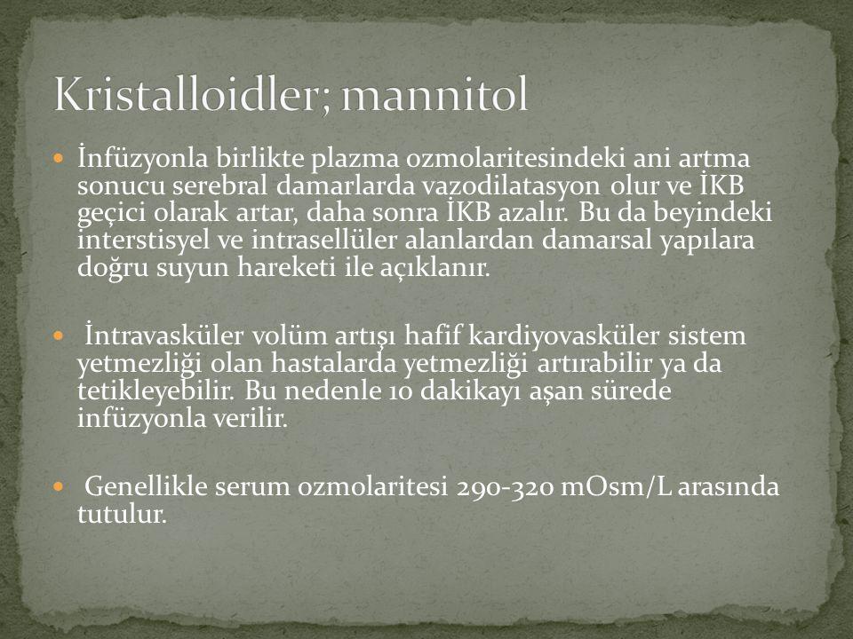 Kristalloidler; mannitol