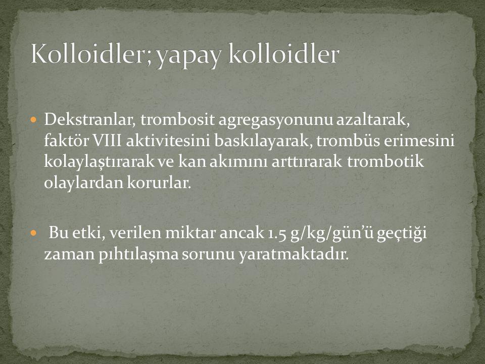 Kolloidler; yapay kolloidler