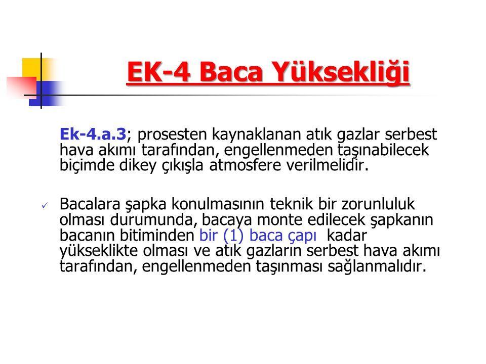 EK-4 Baca Yüksekliği