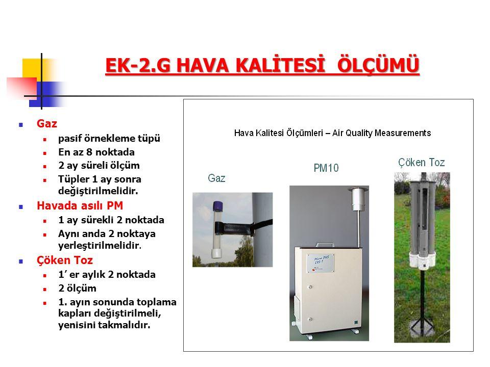 EK-2.G HAVA KALİTESİ ÖLÇÜMÜ