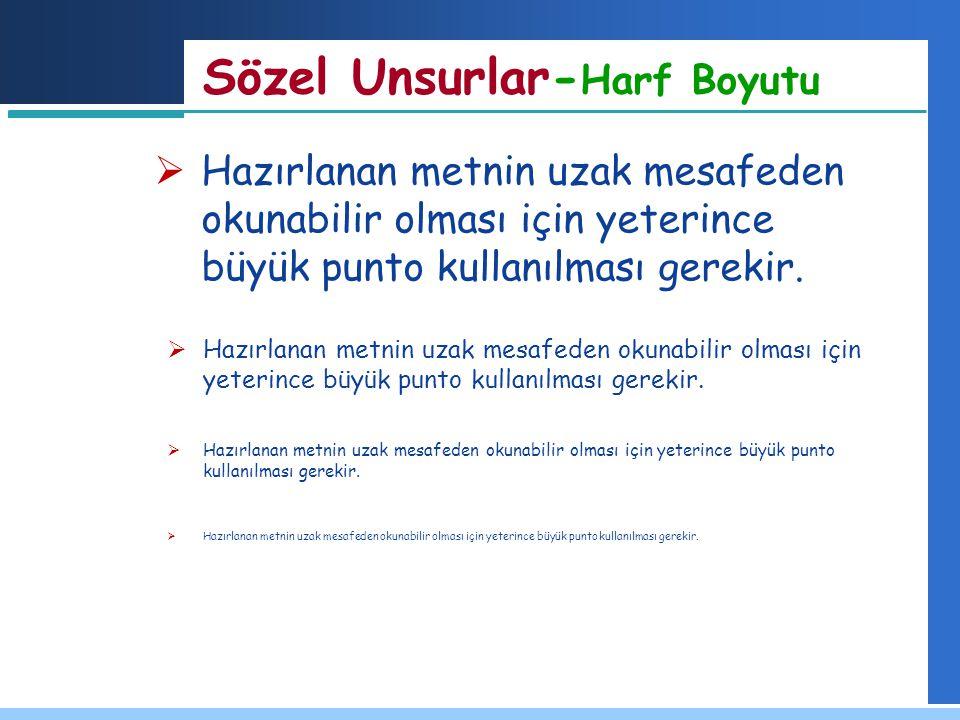 Sözel Unsurlar-Harf Boyutu