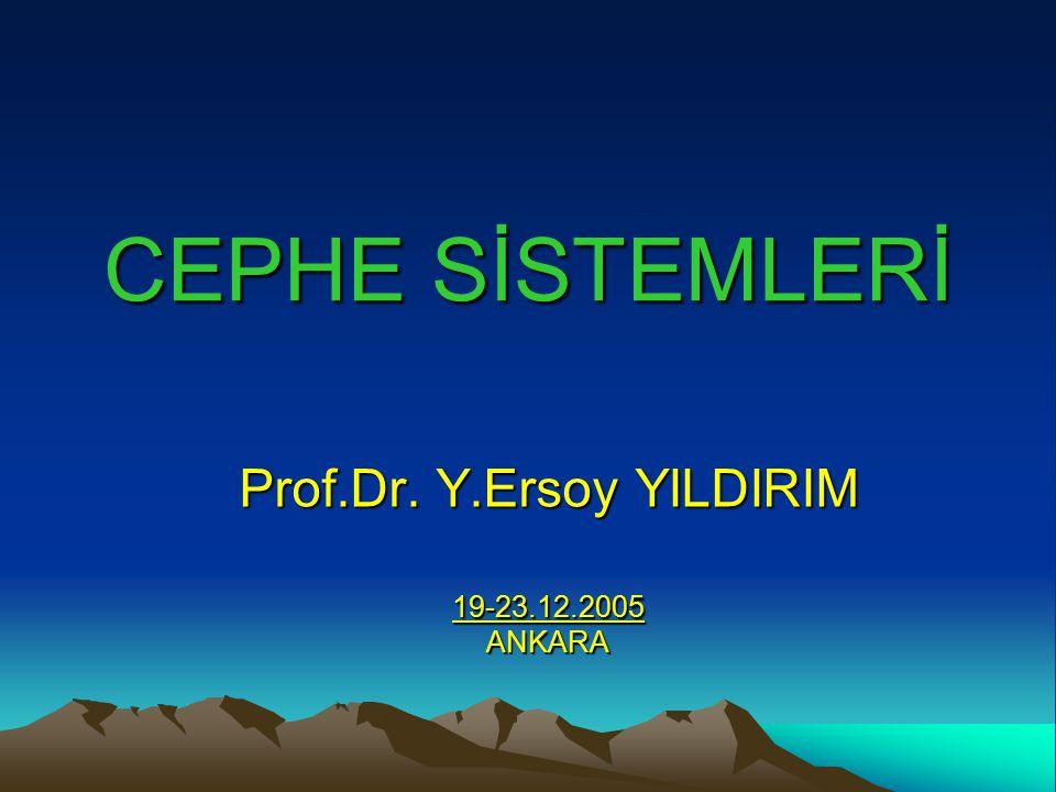 Prof.Dr. Y.Ersoy YILDIRIM 19-23.12.2005 ANKARA