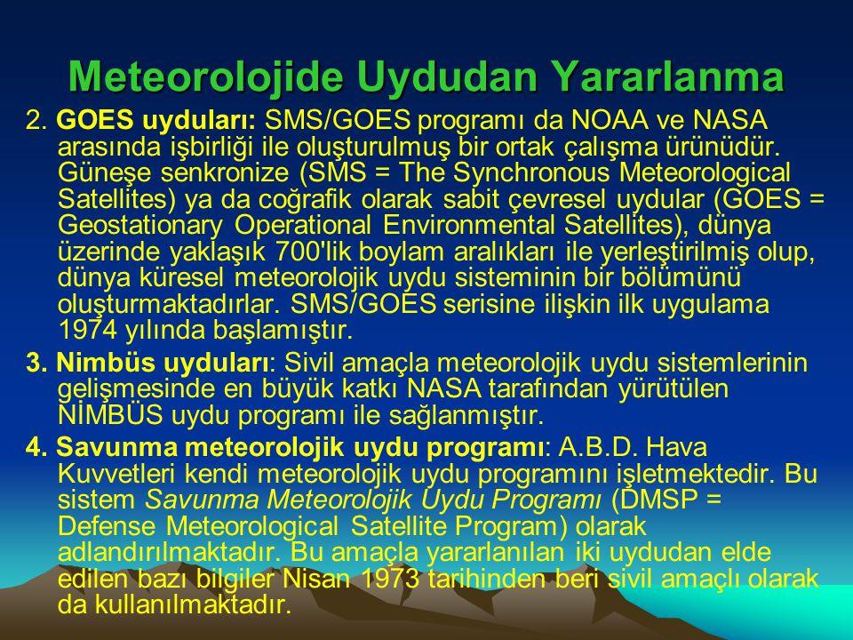 Meteorolojide Uydudan Yararlanma