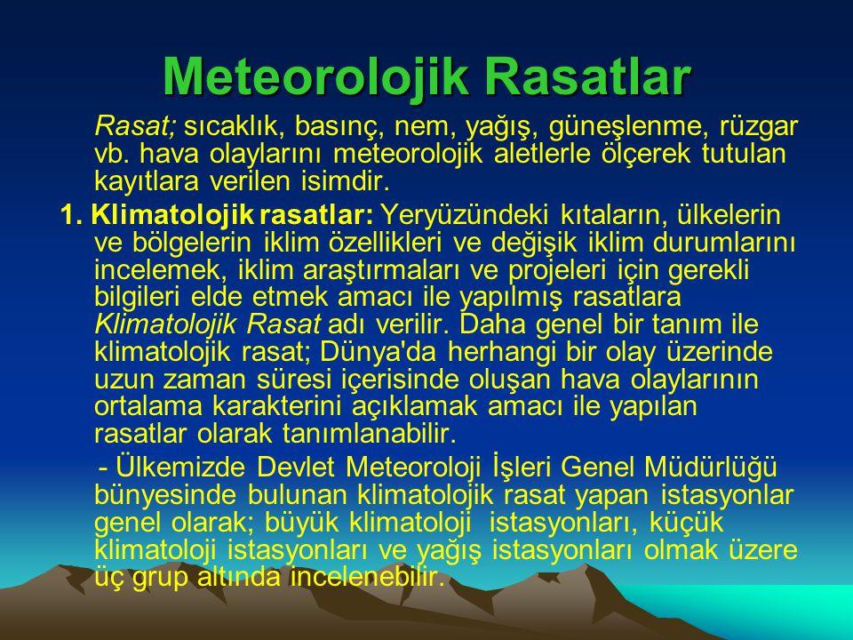Meteorolojik Rasatlar