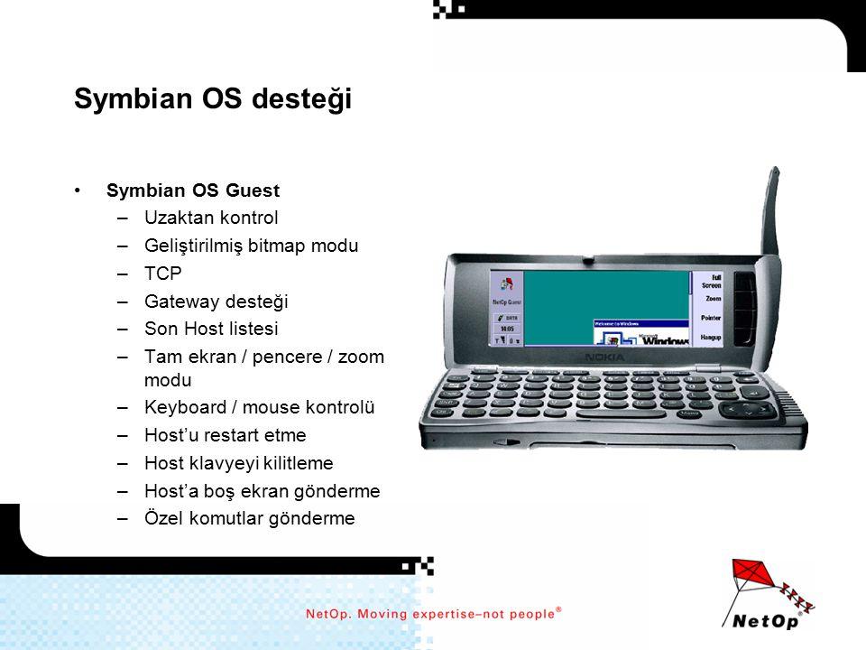 Symbian OS desteği Symbian OS Guest Uzaktan kontrol