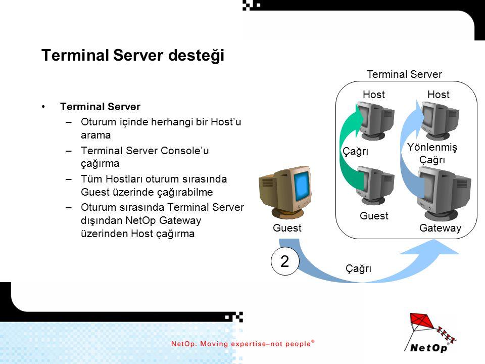 Terminal Server desteği