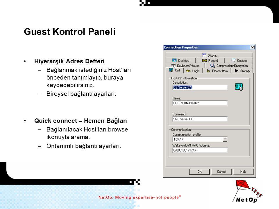 Guest Kontrol Paneli Hiyerarşik Adres Defteri