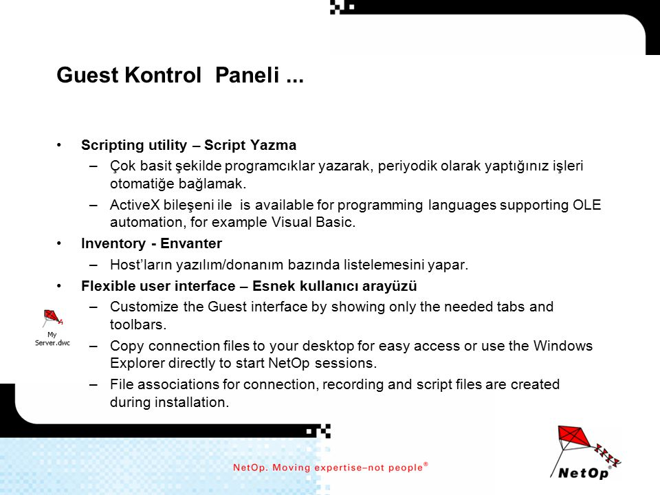 Guest Kontrol Paneli ... Scripting utility – Script Yazma