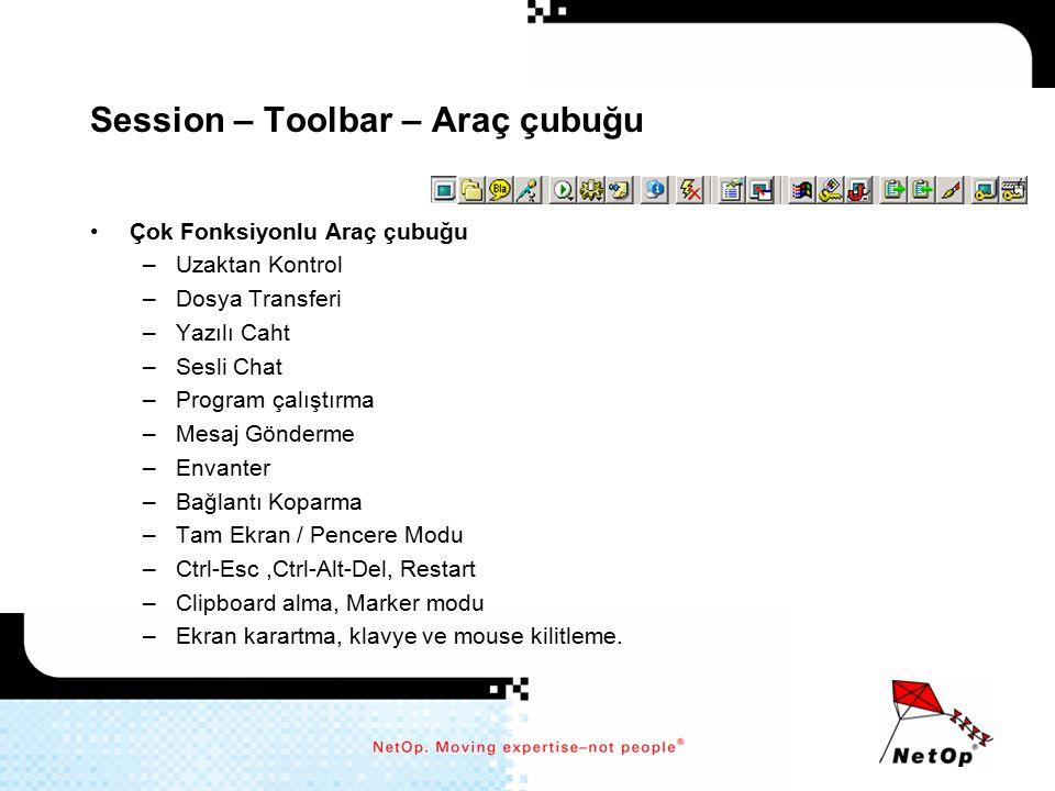 Session – Toolbar – Araç çubuğu