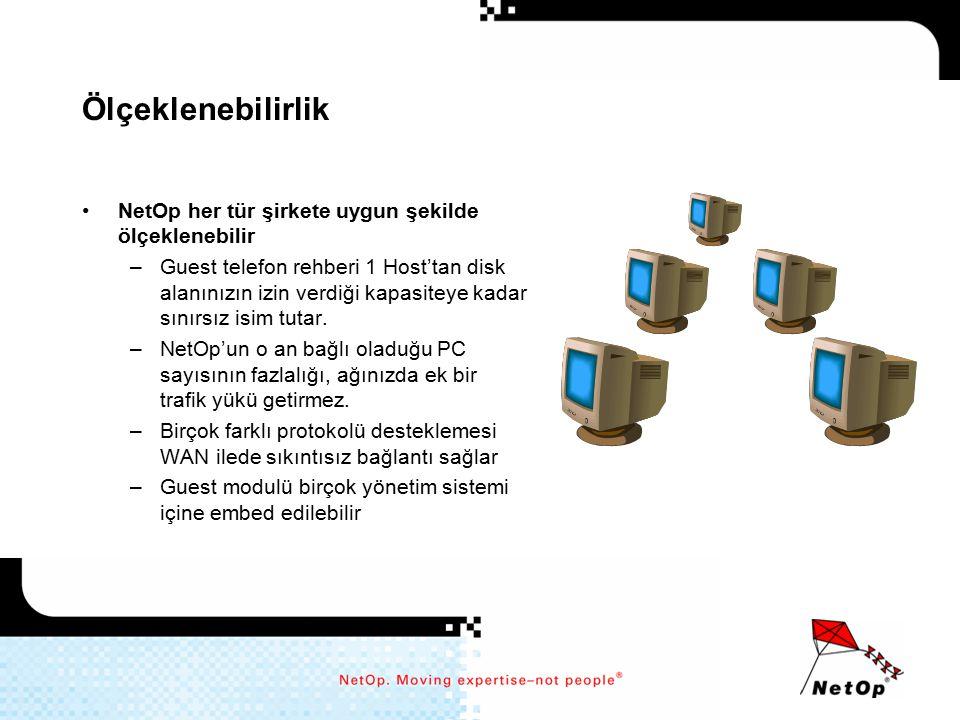Ölçeklenebilirlik NetOp her tür şirkete uygun şekilde ölçeklenebilir