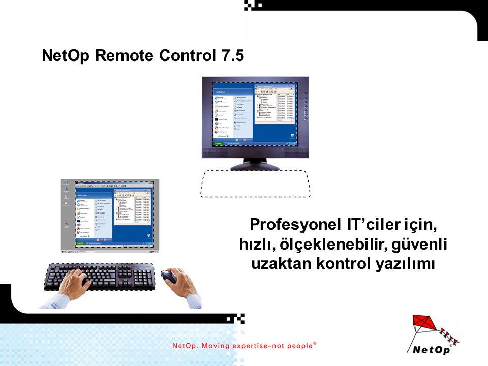 NetOp Remote Control 7.5 Profesyonel IT'ciler için, hızlı, ölçeklenebilir, güvenli uzaktan kontrol yazılımı.