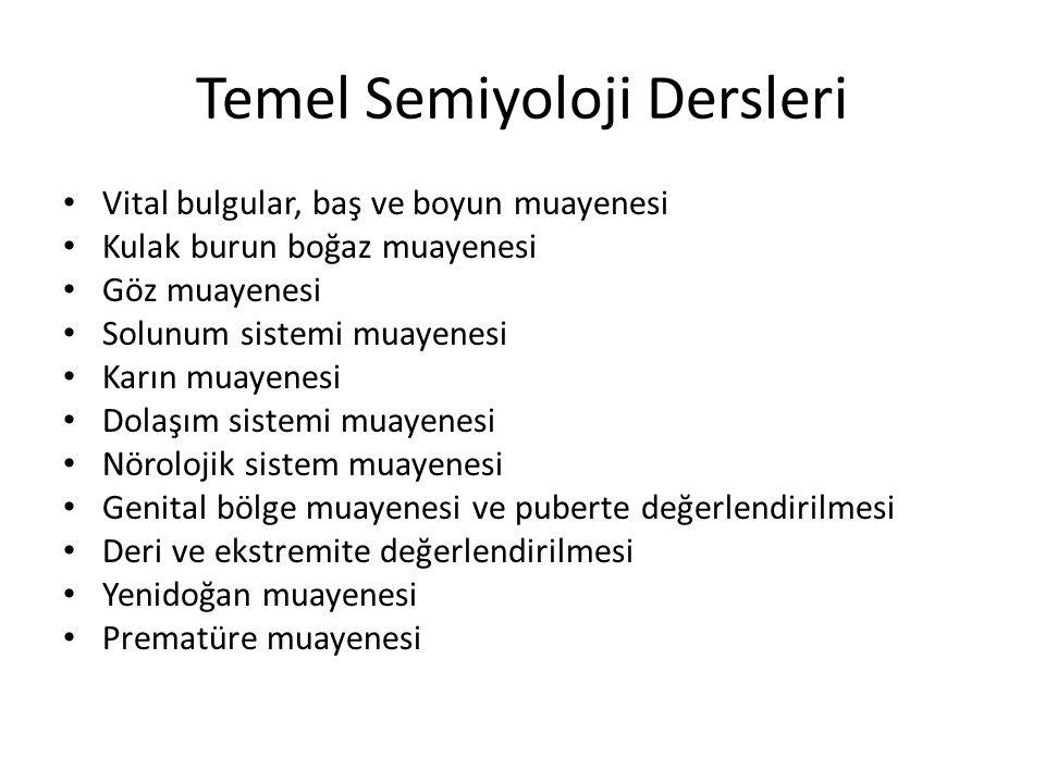 Temel Semiyoloji Dersleri