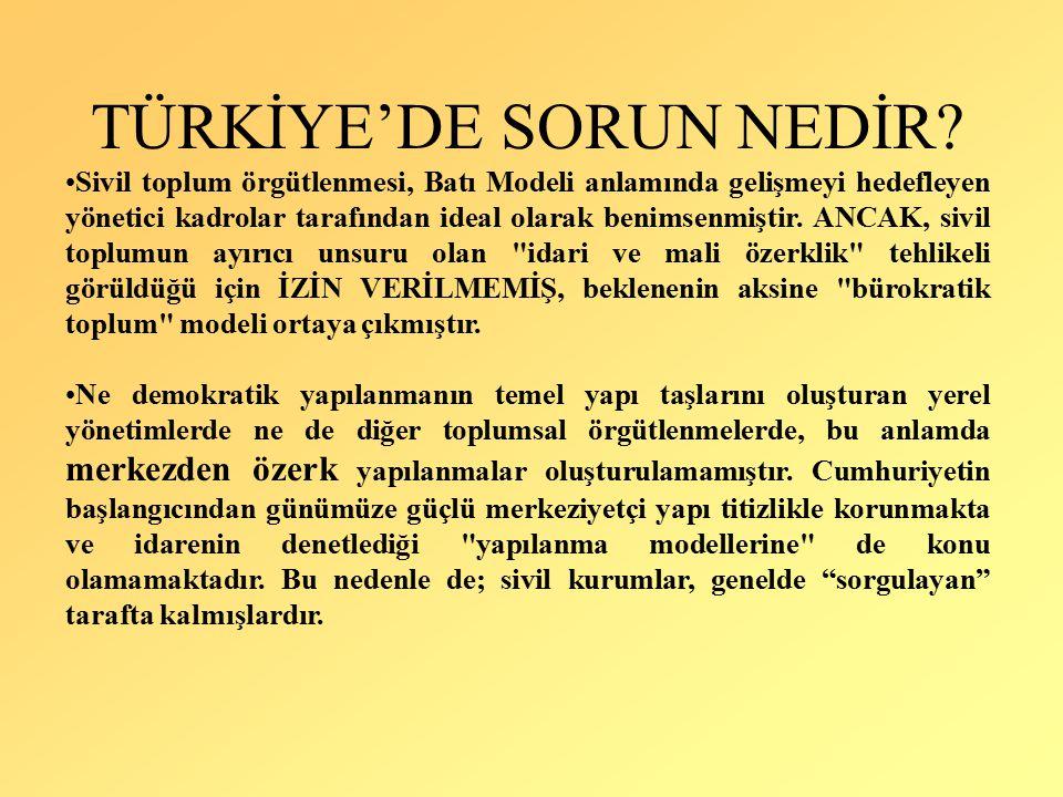 TÜRKİYE'DE SORUN NEDİR