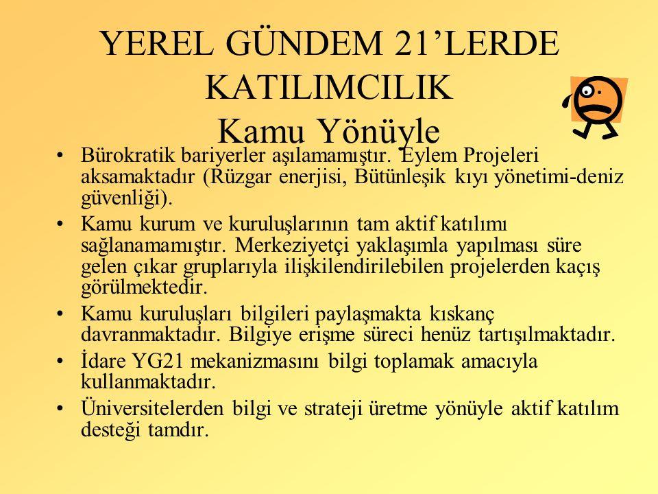 YEREL GÜNDEM 21'LERDE KATILIMCILIK Kamu Yönüyle