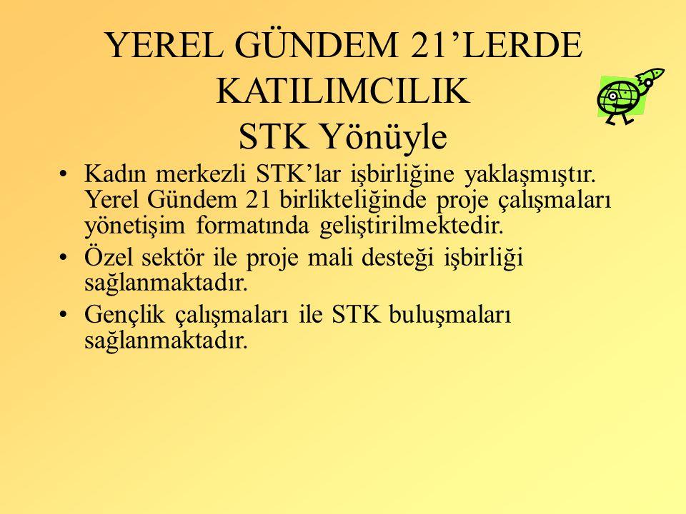 YEREL GÜNDEM 21'LERDE KATILIMCILIK STK Yönüyle