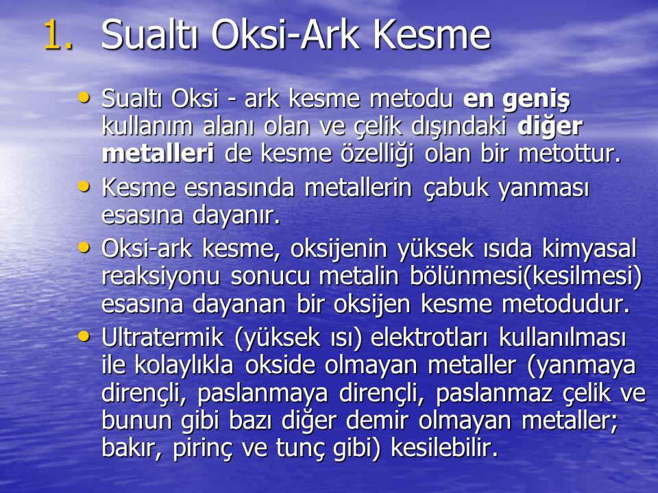 Sualtı Oksi-Ark Kesme