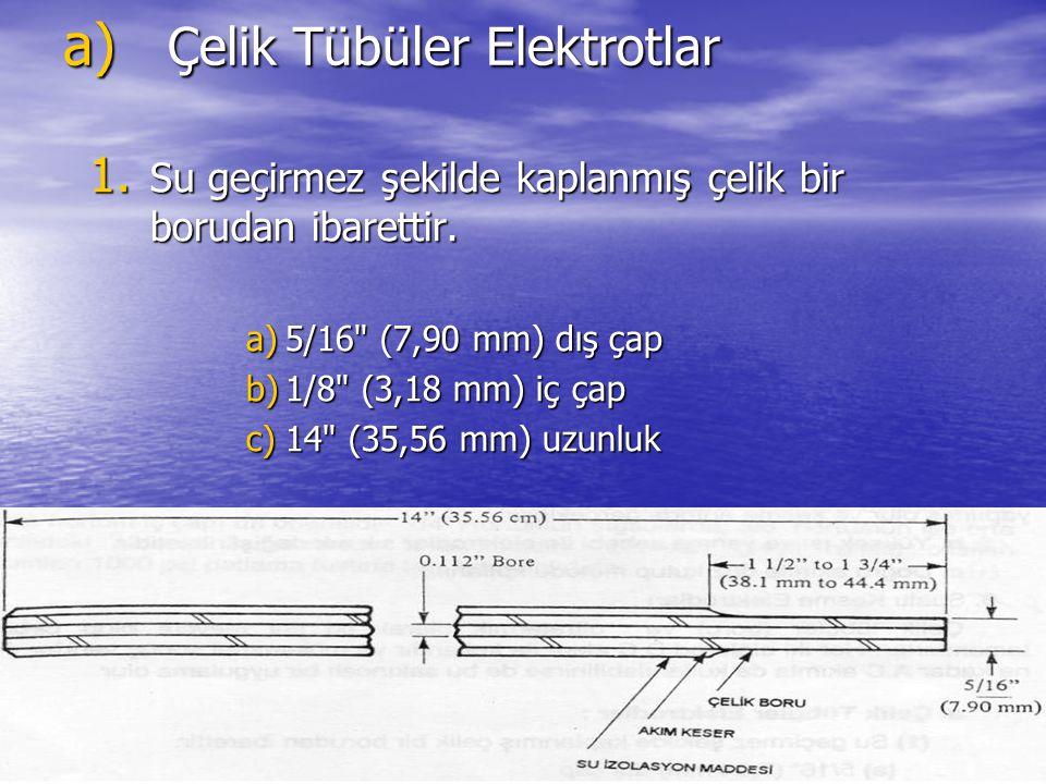 Çelik Tübüler Elektrotlar