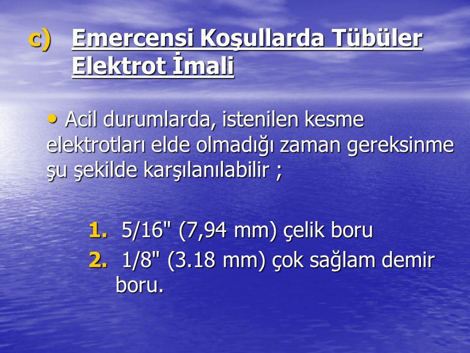 Emercensi Koşullarda Tübüler Elektrot İmali