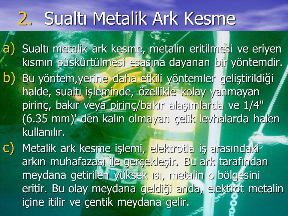 Sualtı Metalik Ark Kesme