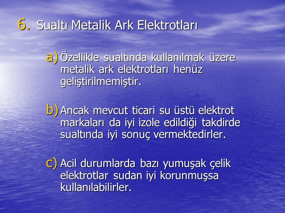 Sualtı Metalik Ark Elektrotları