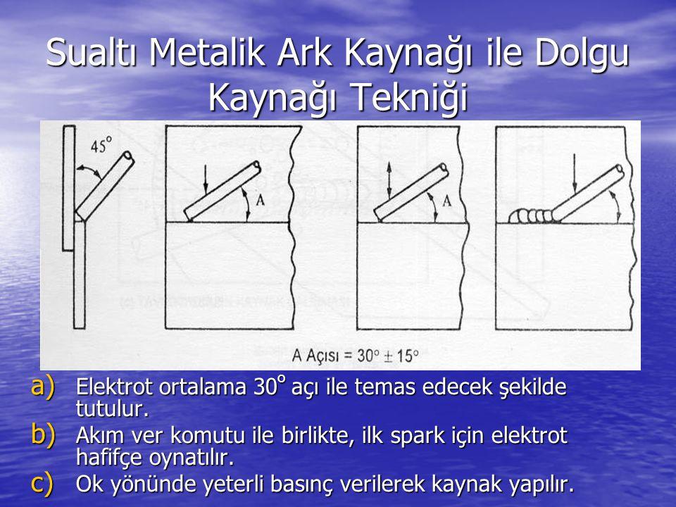 Sualtı Metalik Ark Kaynağı ile Dolgu Kaynağı Tekniği