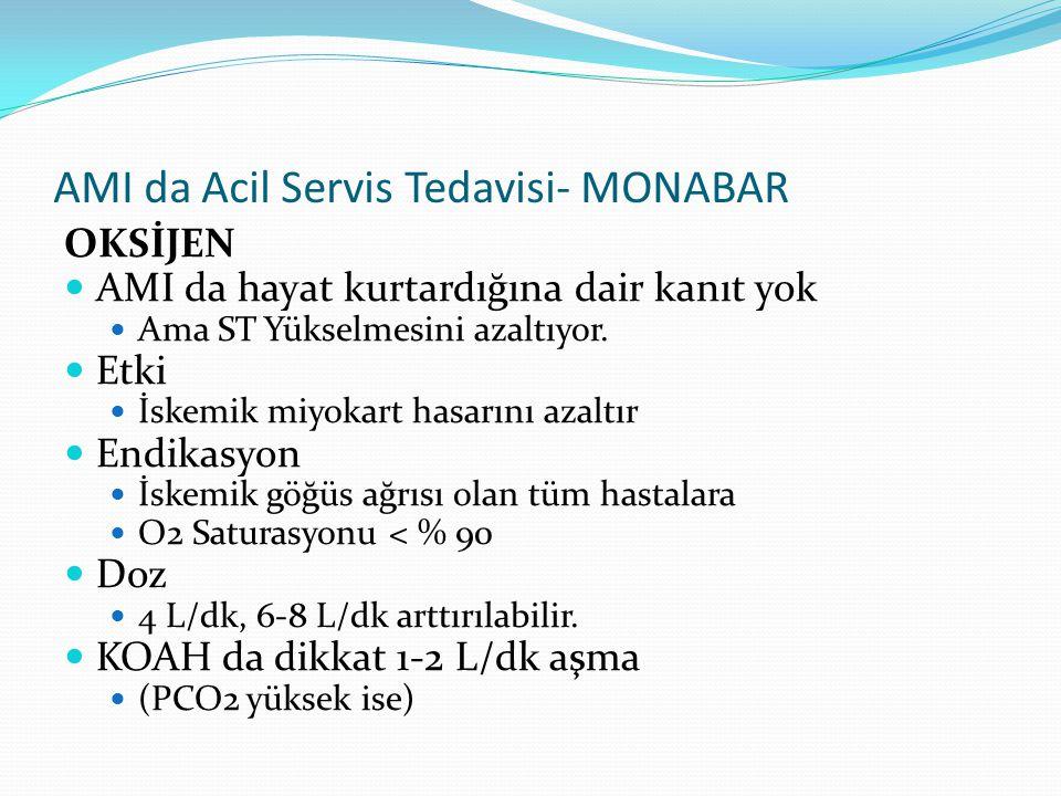 AMI da Acil Servis Tedavisi- MONABAR