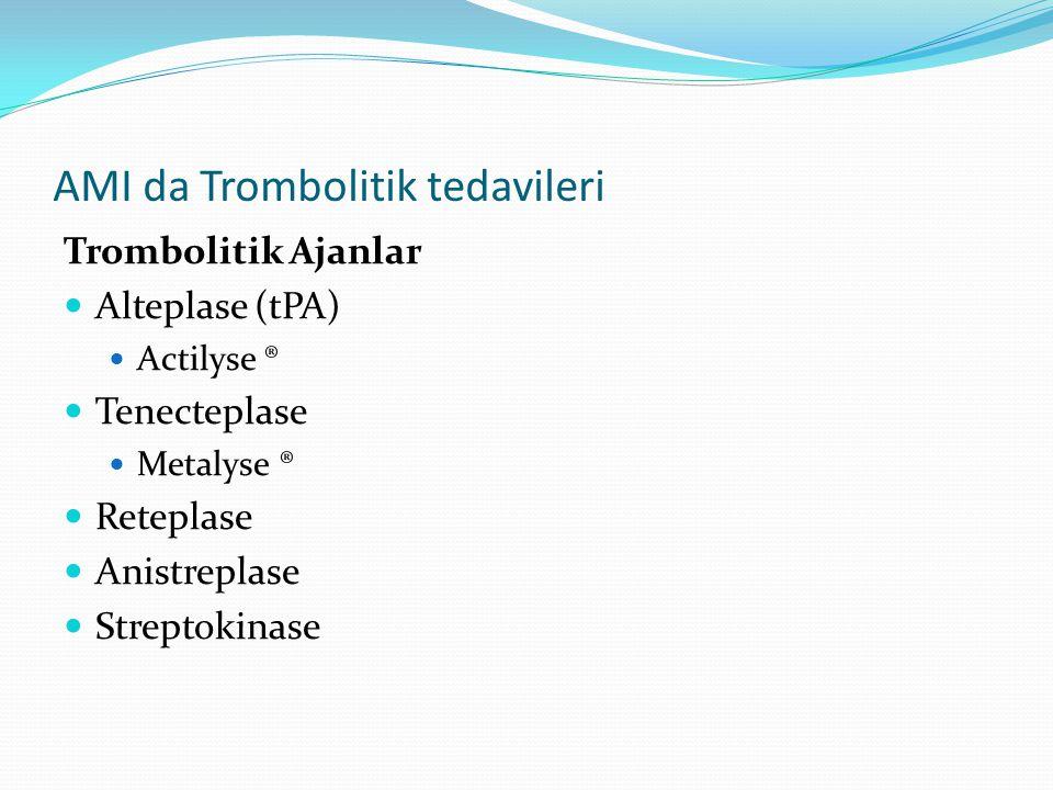 AMI da Trombolitik tedavileri
