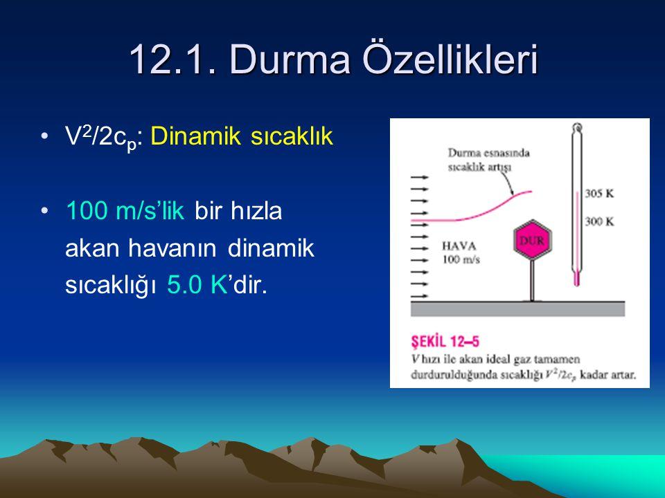 12.1. Durma Özellikleri V2/2cp: Dinamik sıcaklık 100 m/s'lik bir hızla