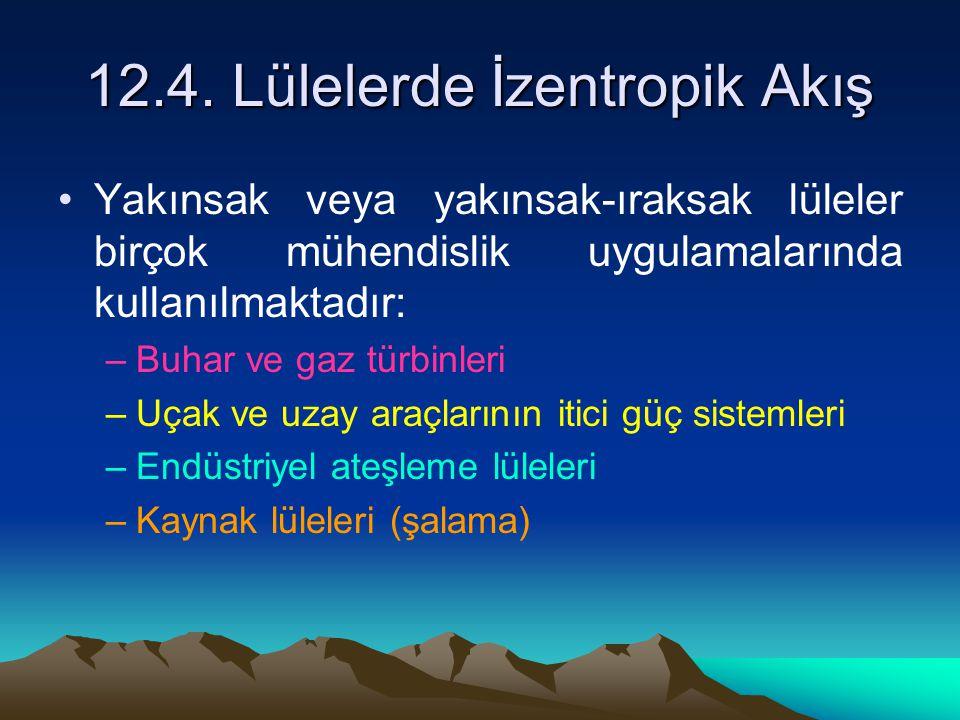 12.4. Lülelerde İzentropik Akış