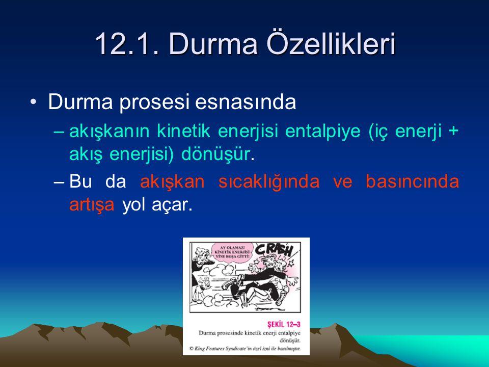 12.1. Durma Özellikleri Durma prosesi esnasında