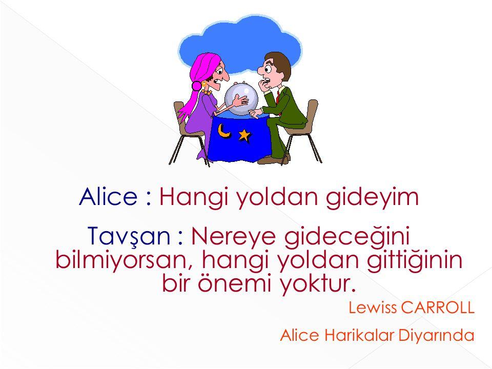 Alice : Hangi yoldan gideyim