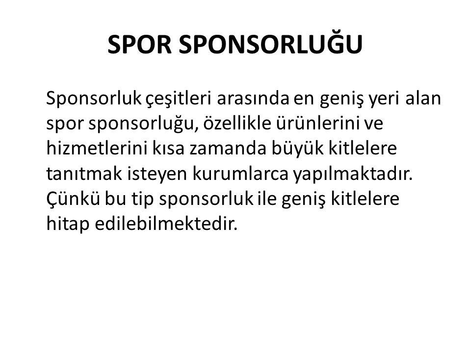 SPOR SPONSORLUĞU