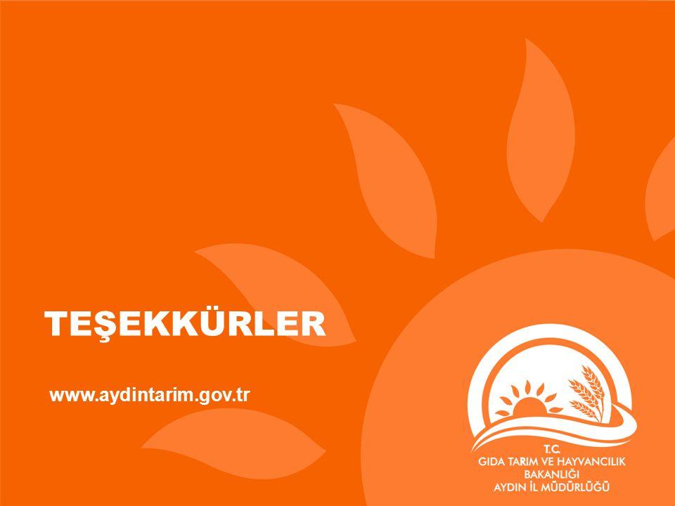 TEŞEKKÜRLER www.aydintarim.gov.tr
